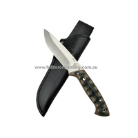 J&V Adventure Knives Villano Black & Brown Micarta Fixed Blade Knife