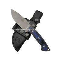 Axarquia Black Blue Micarta Heavy Duty Knife Leather Sheath | J V Adventure Knives