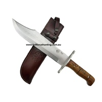 J&V Handmade Bowie Steel Hunting Knife Cocobolo Wood Handle