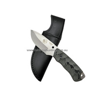JV Adventure Knives Black Nano 2 Utility Fixed Blade Knife