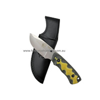 JV Adventure Knives Black Yellow Nano 2 Utility Fixed Blade Knife