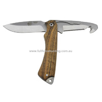 J&V Adventure Knives Rotor Gut Hook & Fixed Blade Utility Skinning Knife