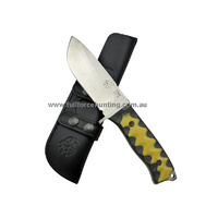 J&V Black & Yellow Thor Heavy Duty Utility Knife with Sheath