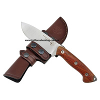 J & V Axarquia Hunting Cocobolo Full Tang Fixed Blade Knife