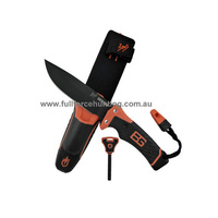 GERBER Bear Grylls Ultimate Pro Knife 31-001901 with Nylon Sheath, Sharpener, Whistle, Fire Starter & Guide