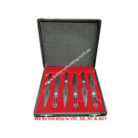 "Defender 5729 Black Spider 5.5"" Throwing Knives 6 Pce Set Gift Boxed"