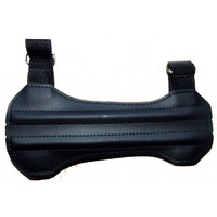 Leather Short 2 Strap Armguard Right or Left Handed