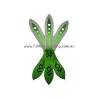 Black Legion BV194 Emerald Dragon Triple Throwing Knife Set of 3 Knives | United Cutlery