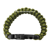4 in 1 Paracord Survival Wrist Band - Green