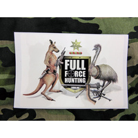 Full Force Hunting Coat of Arms Sticker