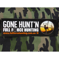 Full Force Hunting Gone Hunt'n Design Sticker 210mm x 70mm