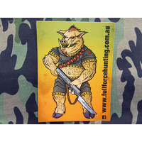Full Force Hunting Pig Design Sticker 148mm x 105mm