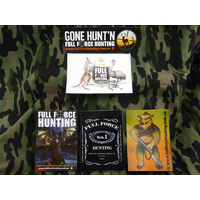 Full Force Hunting Designer Sticker Set of 5