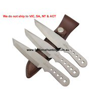 Gil Hibben Small Triple Warrior Thrower Knife Set of 3