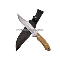 Joker Antelope CO-01 Fixed Blade Bowie Knife Olive Wood Handle