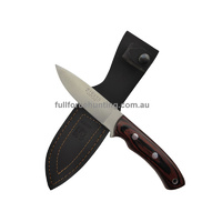 Joker Gacela Stamina Rosewood CR-17 Utility Hunting Knife + Full Leather Sheath