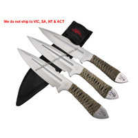 "Kit Rae KR0059 Aircobra 9"" Throwing Dagger 3pc Knife United Cutlery"