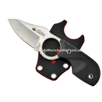 Kizlyar Supreme AmigoX Satin Fixed Blade Neck Knife Sheath & Cord
