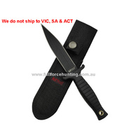 MTech Boot Knife MT-097 Black Tactical Fixed Blade