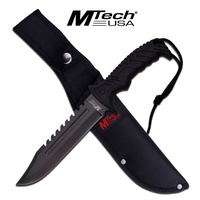 "MTech USA 12.5"" Tactical Sawback Knife with Nylon Sheath 