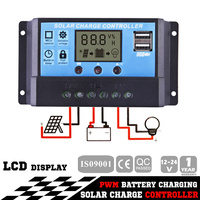 12V-24V 20A LCD Display PWM Solar Panel Regulator Charge Controller Timer PWN