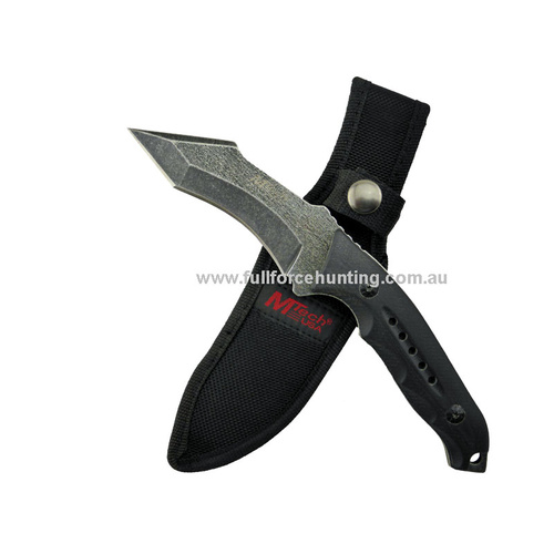 "MTech USA 8.5"" Tactical Fixed Blade Knife with Nylon Sheath 