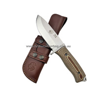 J&V Knives Light Brown Thor Heavy Duty Utility Knife with Sheath