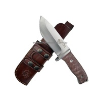 Thor  J & V Knives Brown Handle Utility Knife 1217-714
