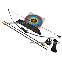Bear 1st Shot Youth Recurve Archery Set Right | Left Handed Dk Green