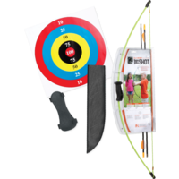Bear 1st Shot Youth Recurve Archery Set Right | Left Handed - Flo Green