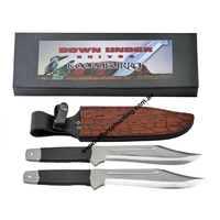 Down Under Kookaburra Throwing Bowie 2 Knife Set