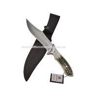 Joker Antelope CC-01 Fixed Blade Bowie Knife Stag Horn Handle