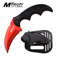 MTech MT-20-63RD Red Tactical Karambit Knife with Holster Sheath