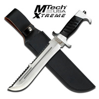 "MTech USA Xtreme MX-8099 Bowie 15"" Fixed Blade Knife with Sawback Serrated Spine"