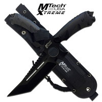 "MTech USA Xtreme MX-8135 Black 11.3"" Tanto Tactical Knife with MOLLE Sheath"