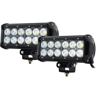 2x 7inch 60w Cree LED Light Bar Flood Beam Offroad Work SUV 4WD Lamp