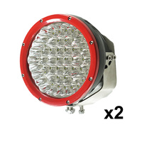 2X 9inch 315w CREE LED Driving Light Spot Beam Offroad Work Bar Lamp 12V 4WD 4X4 RED