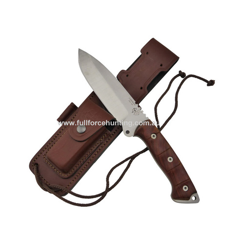 "J&V Adventure Knives - Celtibero Cocobolo 11"" Fixed Blade Knife"