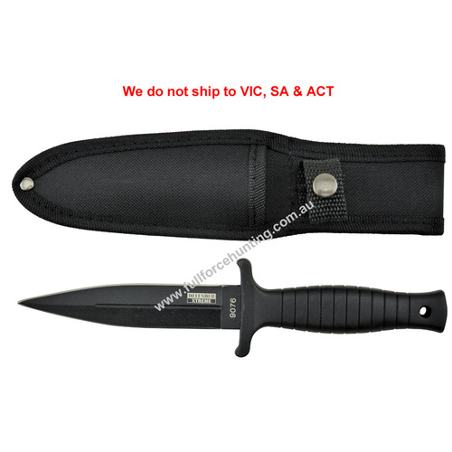 "Defender #9076 | 9"" Boot Dagger Knife with Nylon Sheath"