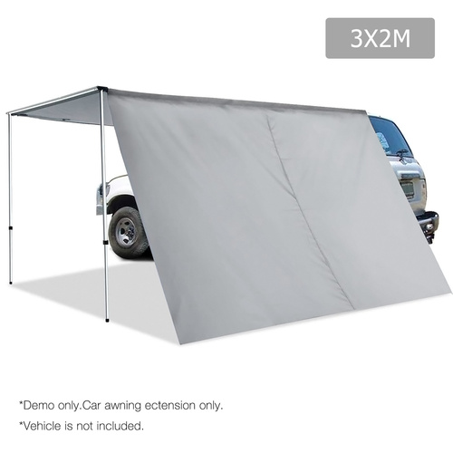 2X3M Car Awning Extension  - Grey